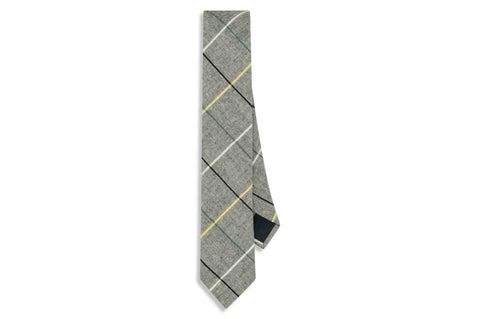 Grey Boxed Cotton Skinny Tie