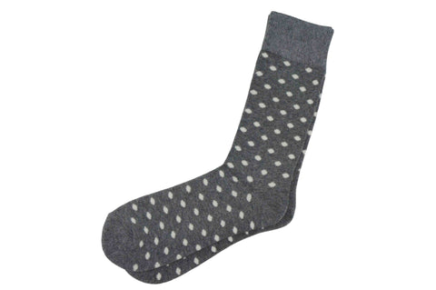 Grey Dotted Men's Socks