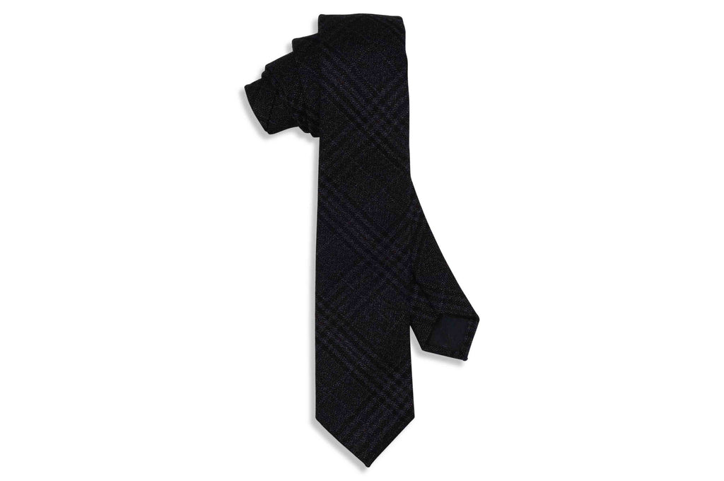 Grey Fade Cotton Skinny Tie
