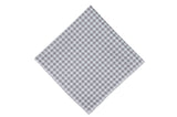 Grey Gingham Cotton Pocket Square