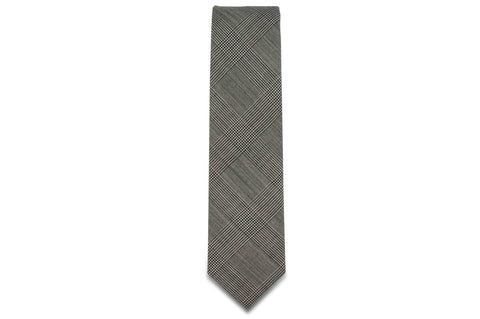 Grey Glen Checks Wool Skinny Tie
