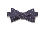 Grey Sprinkles Silk Bow Tie (self-tie)