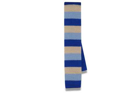 Happy Blues Knitted Skinny Tie