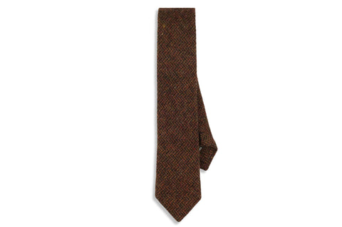 Harvest Brown Wool Skinny Tie
