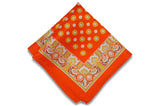 Healing Orange Silk Pocket Square