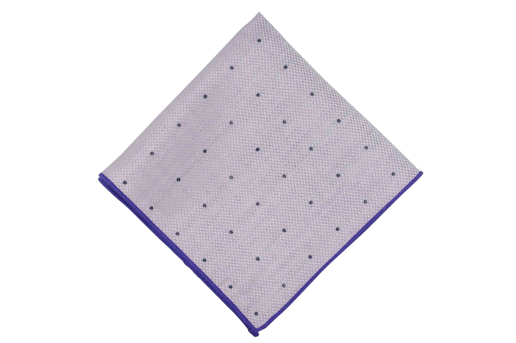 Heather White Linen Pocket Square