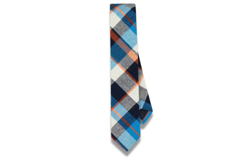 Henry Plaid Cotton Skinny Tie