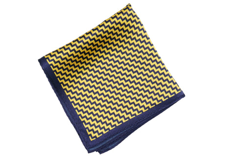 Hornet Waves Silk Pocket Square