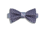Houndstooth Paisley Silk Bow Tie (self-tie)