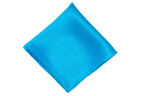 Intense Blue Silk Pocket Square