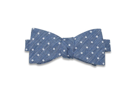 Jeans Dots Cotton Bow Tie (self-tie)