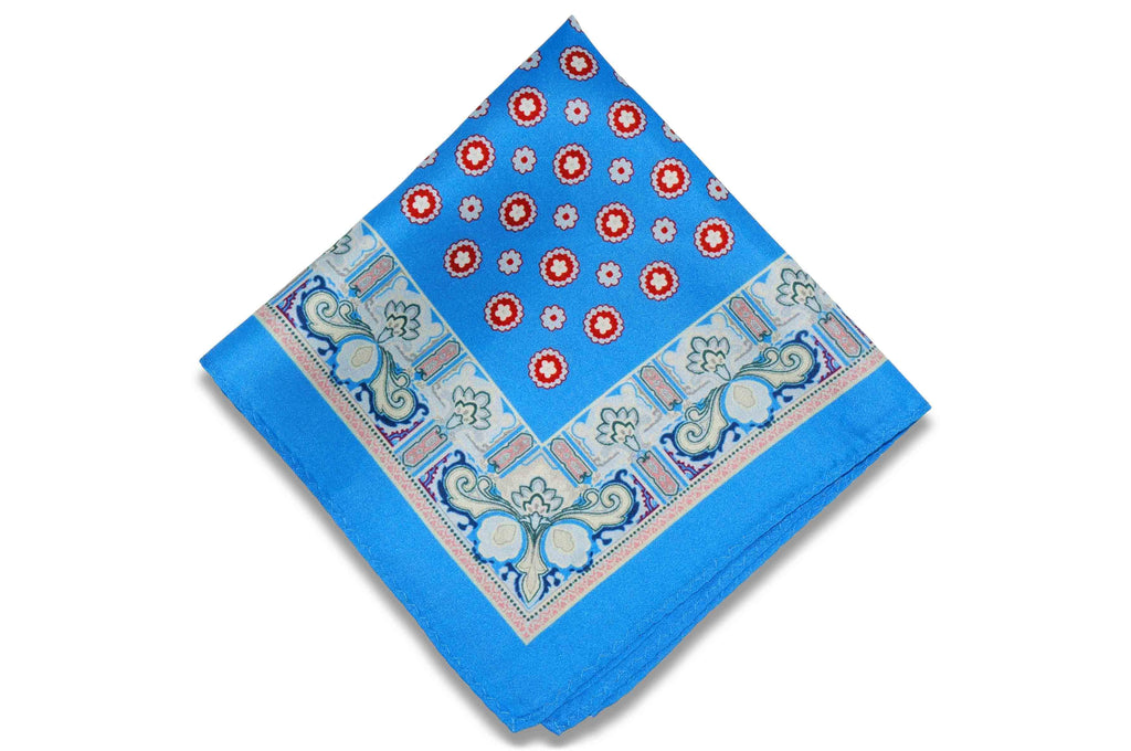 Justice Blue Silk Pocket Square