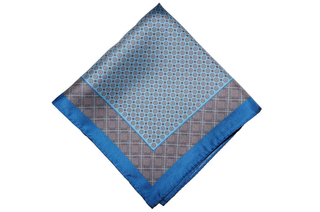 Kent Blue Silk Pocket Square
