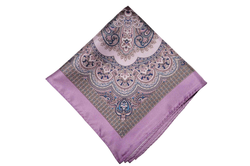 Kent Purple Silk Pocket Square