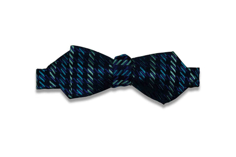 Lane Blue Silk Bow Tie (Self-Tie)