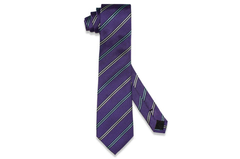 Lane Purple Silk Tie