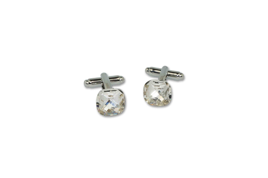 Large Crystal Cufflinks