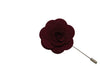 Large Maroon Lapel Flower