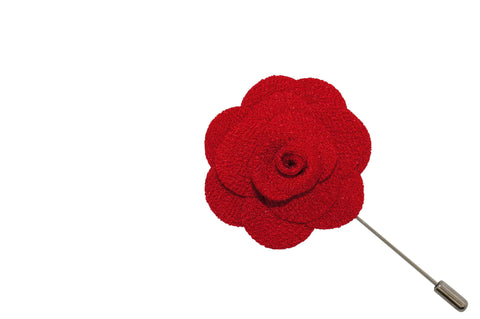 Large Red Lapel Flower