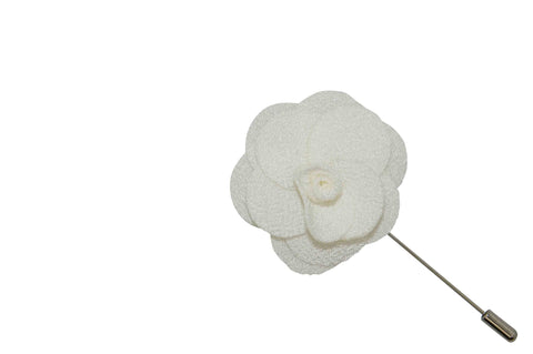 Large White Lapel Flower