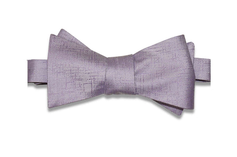 Lavender Purple Texture Silk Bow Tie (Self-Tie)