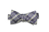 Lazy Purple Silk Bow Tie (self-tie)