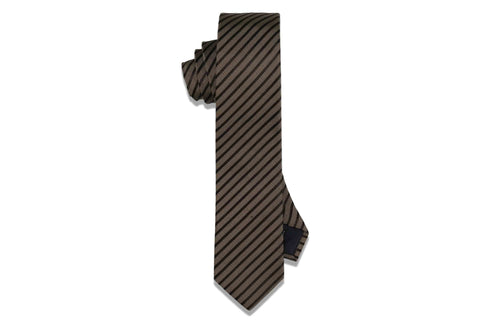 Lazy Stripes Silk Skinny Tie