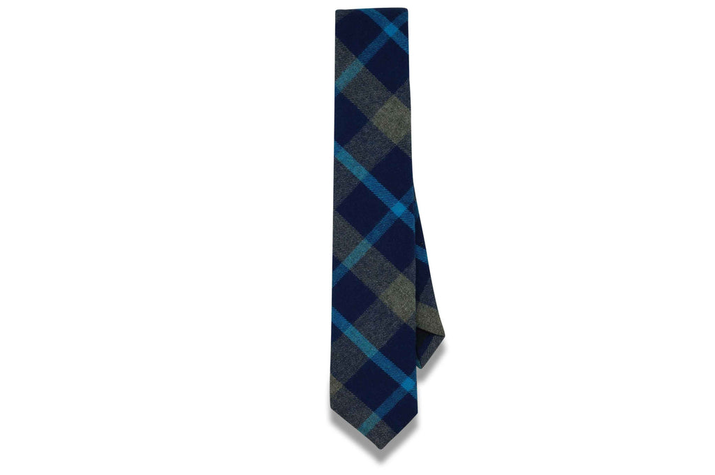 Leo Plaid Cotton Skinny Tie
