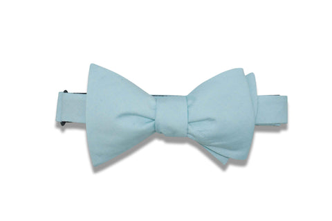 Light Blue Cotton Bow Tie (self-tie)