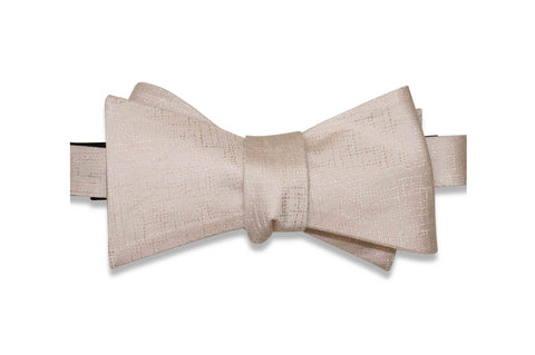 Light Blush Texture Silk Bow Tie (Self-Tie)