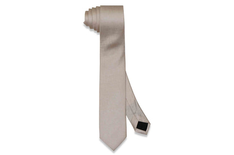 Light Blush Texture Silk Skinny Tie