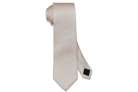 Light Blush Texture Silk Tie