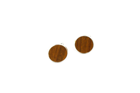 Light Brown Wood Cufflinks