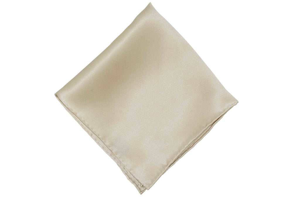 Light Sand Silk Pocket Square