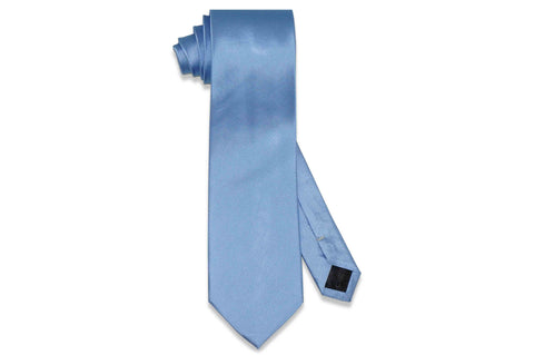 Light Textured Blue Silk Tie