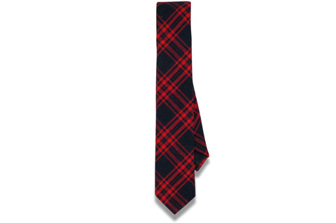 Logan Red Cotton Skinny Tie