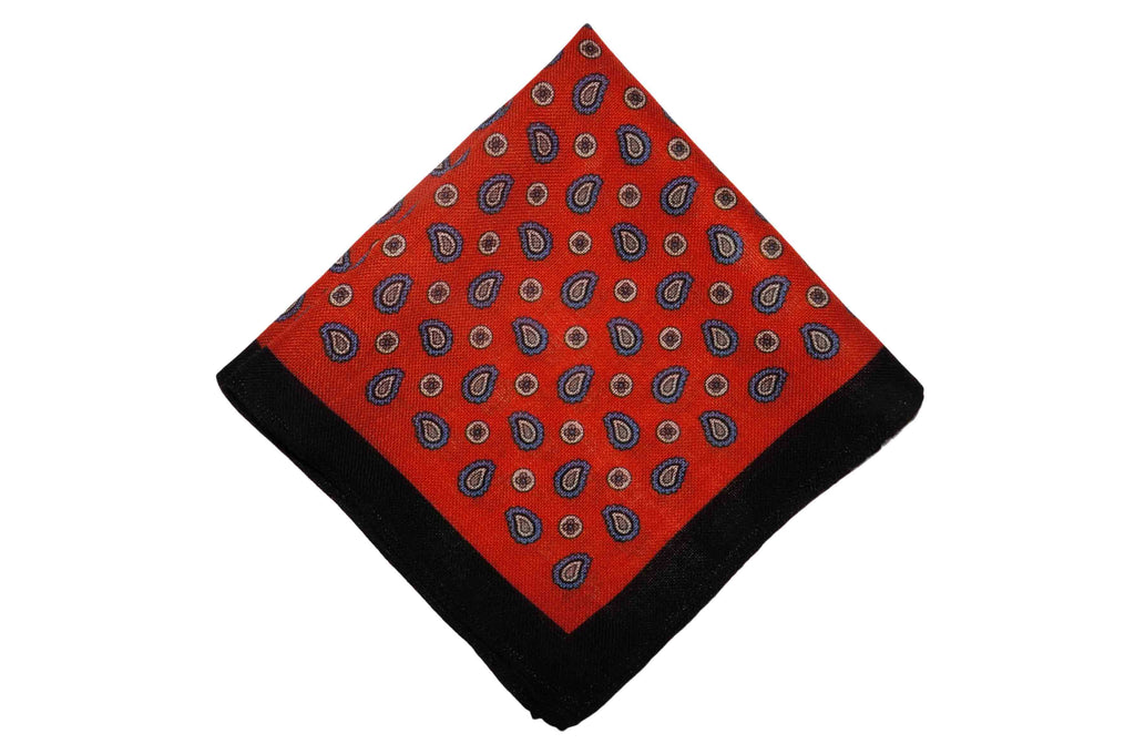 Madison Red Wool Pocket Square