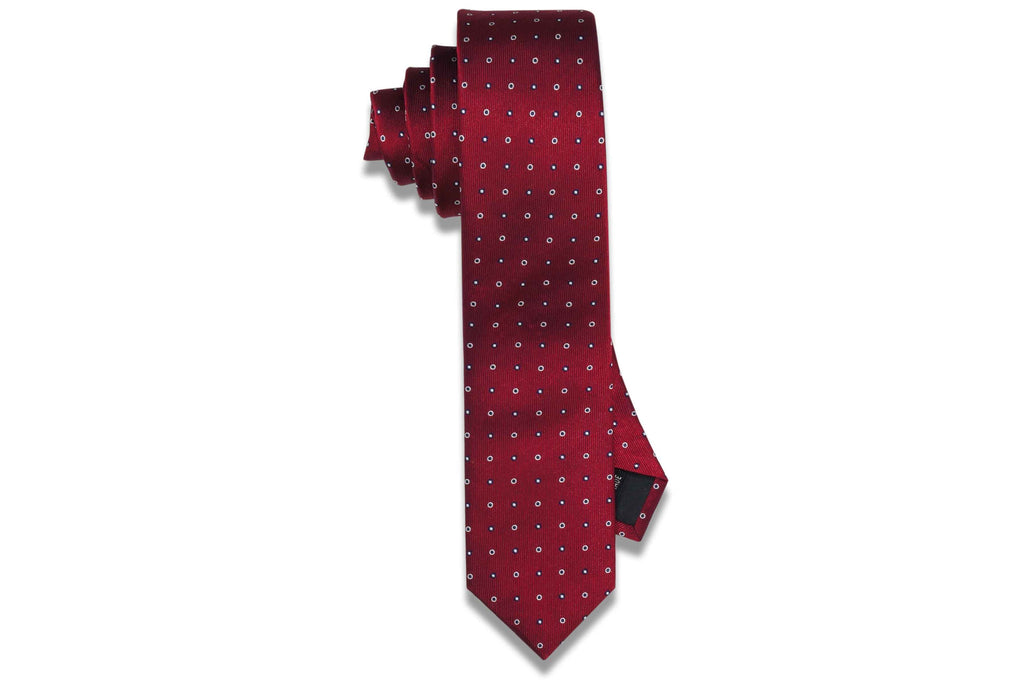 Madson Red Silk Skinny Tie