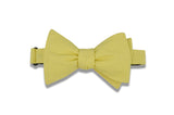 Maize Yellow Cotton Bow Tie (self-tie)