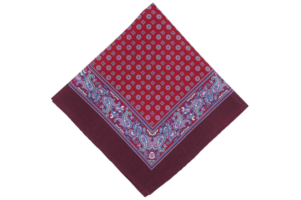 Maroon Court Cotton Pocket Square