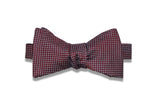 Maroon Mini Squares Silk Bow Tie (self-tie)