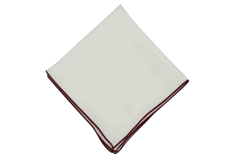 Maroon Piping Silk Pocket Square