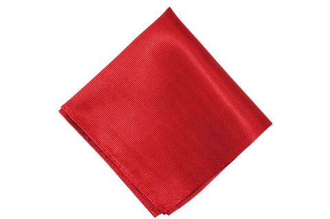 Maroon Silk Pocket Square