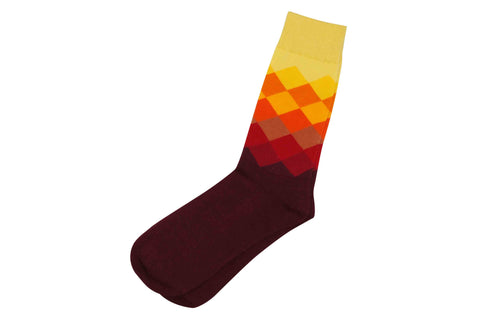 Maroon Yellow Socks