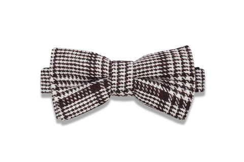 MARSHMELLOW SMORE WOOL BOW TIE (pre-tied)