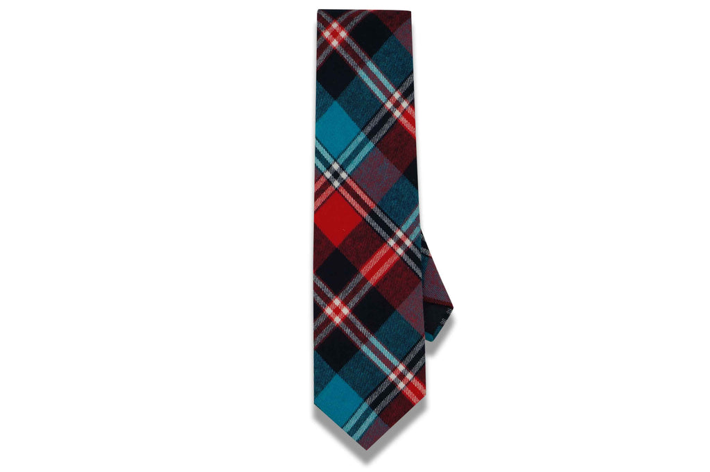 Max Plaid Red Cotton Tie