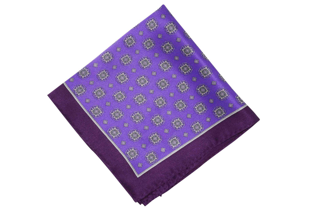 Max Purple Silk Pocket Square