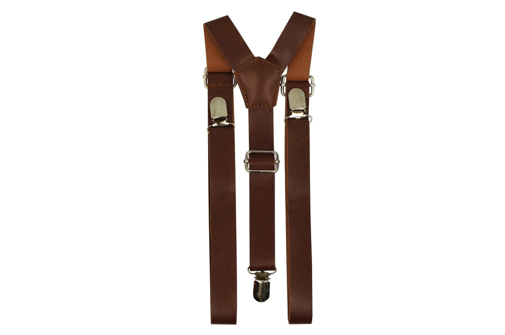 Mid tone brown suspenders