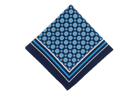 Middlefield Blue Cotton Pocket Square