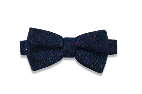 MIDNIGHT BLUES WOOL BOW TIE (pre-tied)